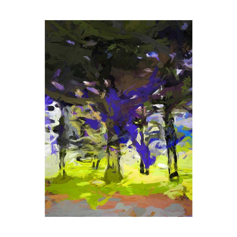 Tree Avenue Purple Green Cobalt Blue by jackievano's Artist Shop