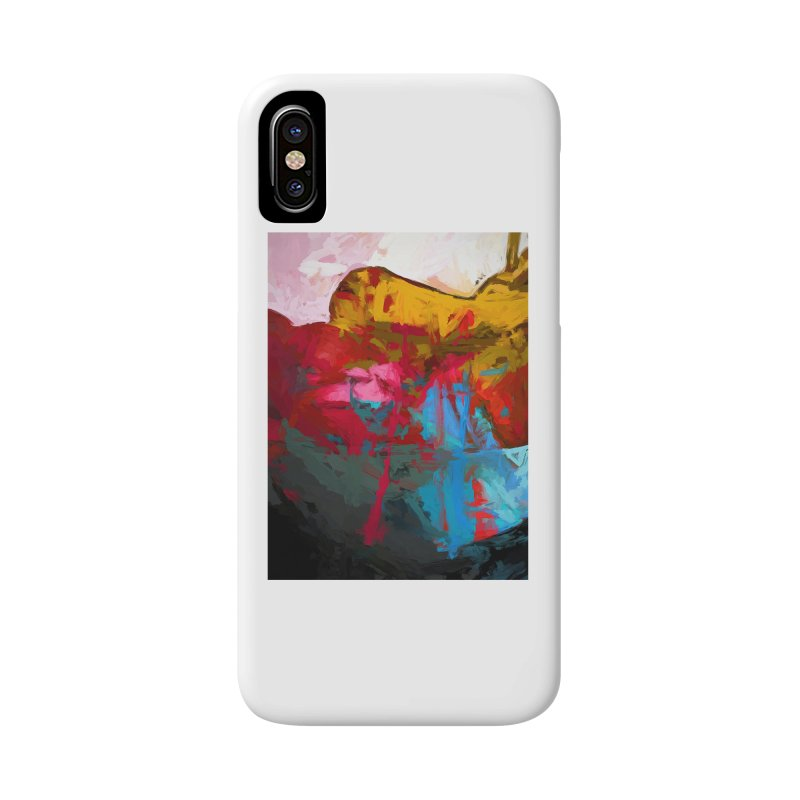 September Splash Apple Banana Turquoise Pink Accessories Phone Case by jackievano's Artist Shop