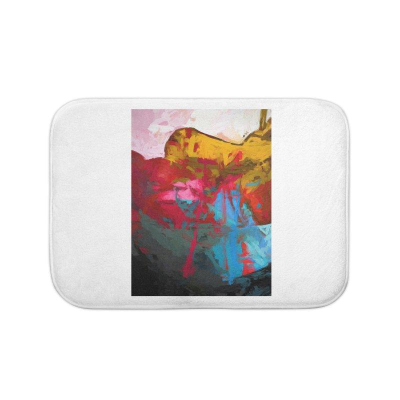 September Splash Apple Banana Turquoise Pink Home Bath Mat by jackievano's Artist Shop