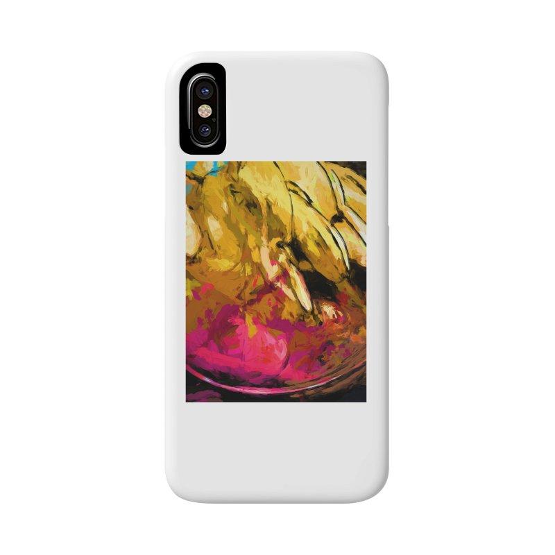 Banana Yellow Pink Splatter True Accessories Phone Case by jackievano's Artist Shop
