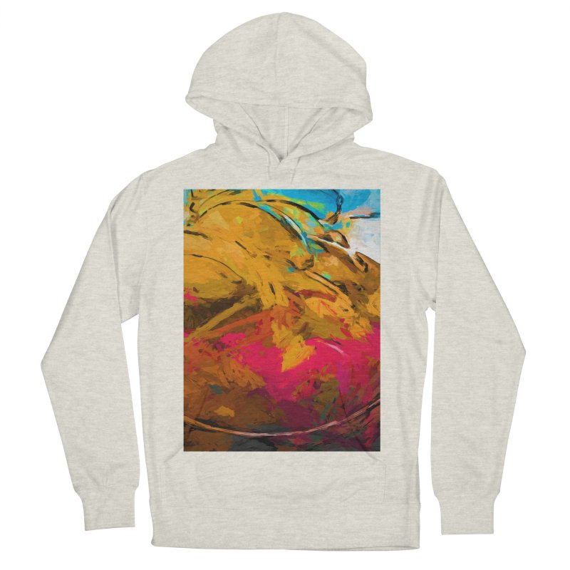 Banana Turquoise Gold Hot Pink Women's French Terry Pullover Hoody by jackievano's Artist Shop