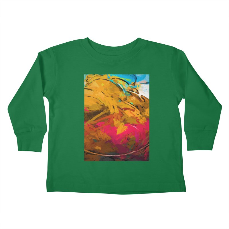 Banana Turquoise Gold Hot Pink Kids Toddler Longsleeve T-Shirt by jackievano's Artist Shop