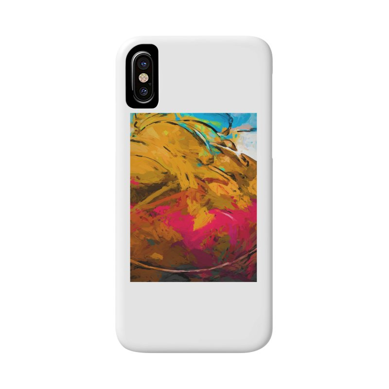 Banana Turquoise Gold Hot Pink Accessories Phone Case by jackievano's Artist Shop