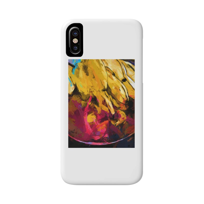 Banana Yellow Pink Splatter Tendril Accessories Phone Case by jackievano's Artist Shop