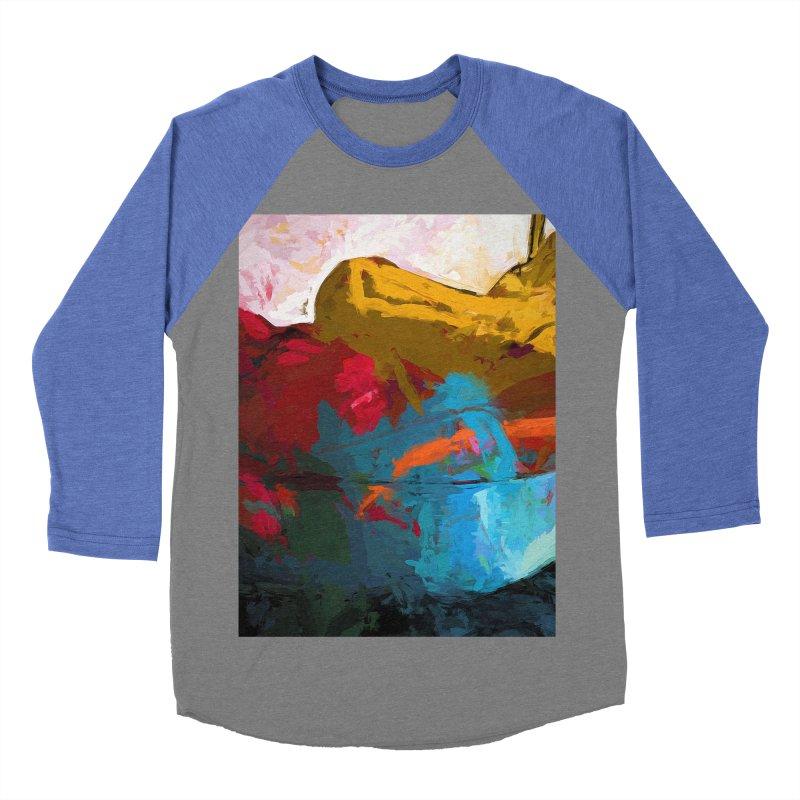 September Splash Apple Banana Turquoise Orange Women's Baseball Triblend Longsleeve T-Shirt by jackievano's Artist Shop