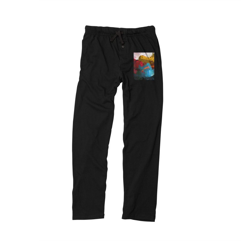 September Splash Apple Banana Turquoise Orange Men's Lounge Pants by jackievano's Artist Shop