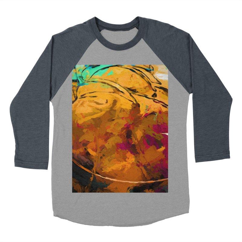 Banana Apple Orange Yellow Dab Men's Baseball Triblend Longsleeve T-Shirt by jackievano's Artist Shop