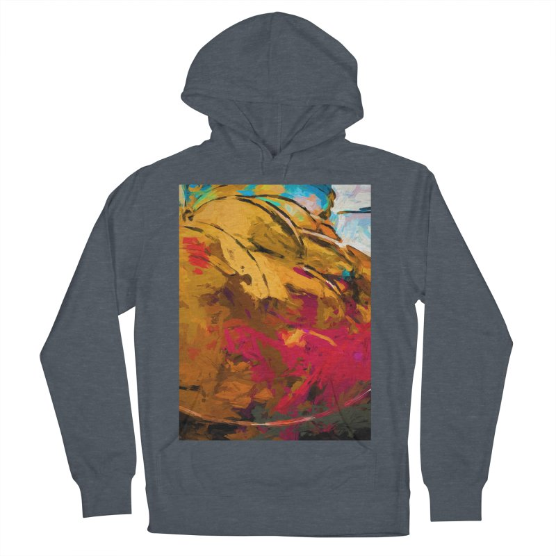 Banana Turquoise Gold Scarlet Women's French Terry Pullover Hoody by jackievano's Artist Shop