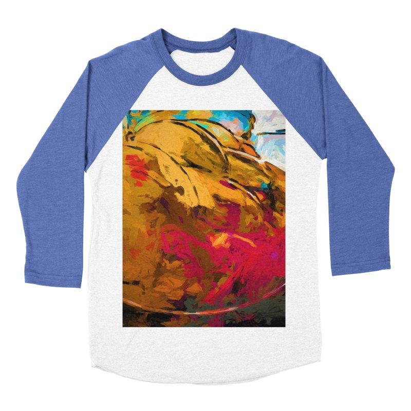 Banana Turquoise Gold Scarlet Women's Baseball Triblend Longsleeve T-Shirt by jackievano's Artist Shop