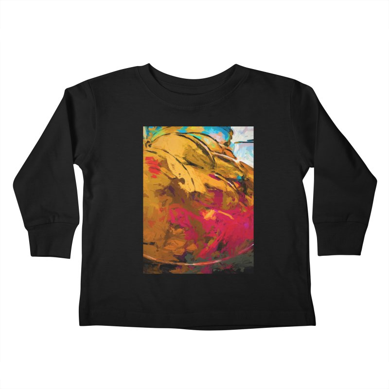 Banana Turquoise Gold Scarlet Kids Toddler Longsleeve T-Shirt by jackievano's Artist Shop
