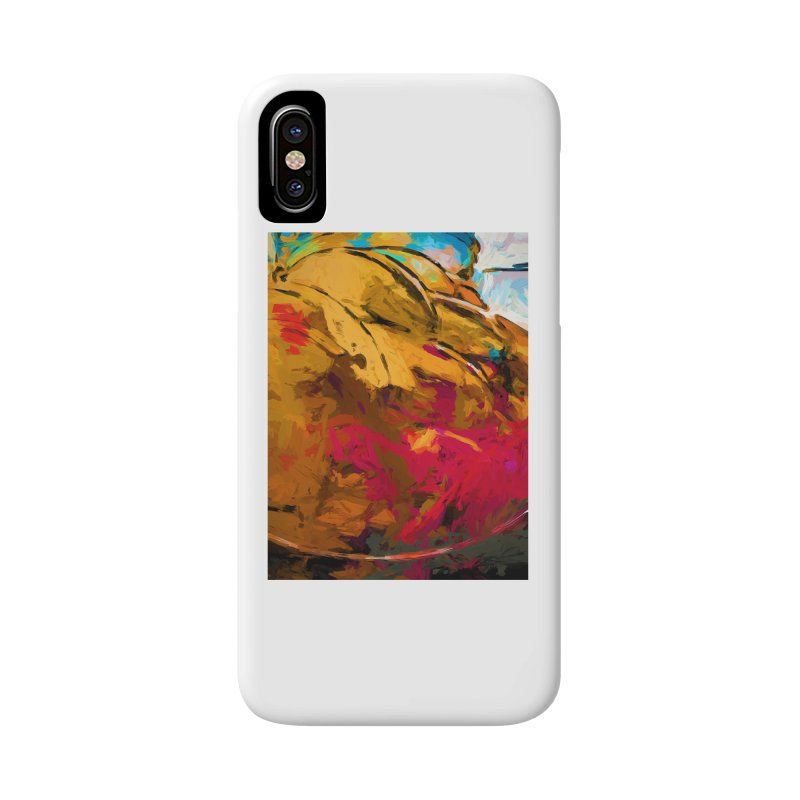 Banana Turquoise Gold Scarlet Accessories Phone Case by jackievano's Artist Shop