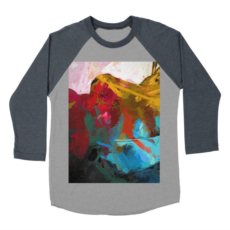 September Splash Apple Banana Turquoise Terracotta Women's Baseball Triblend Longsleeve T-Shirt by jackievano's Artist Shop