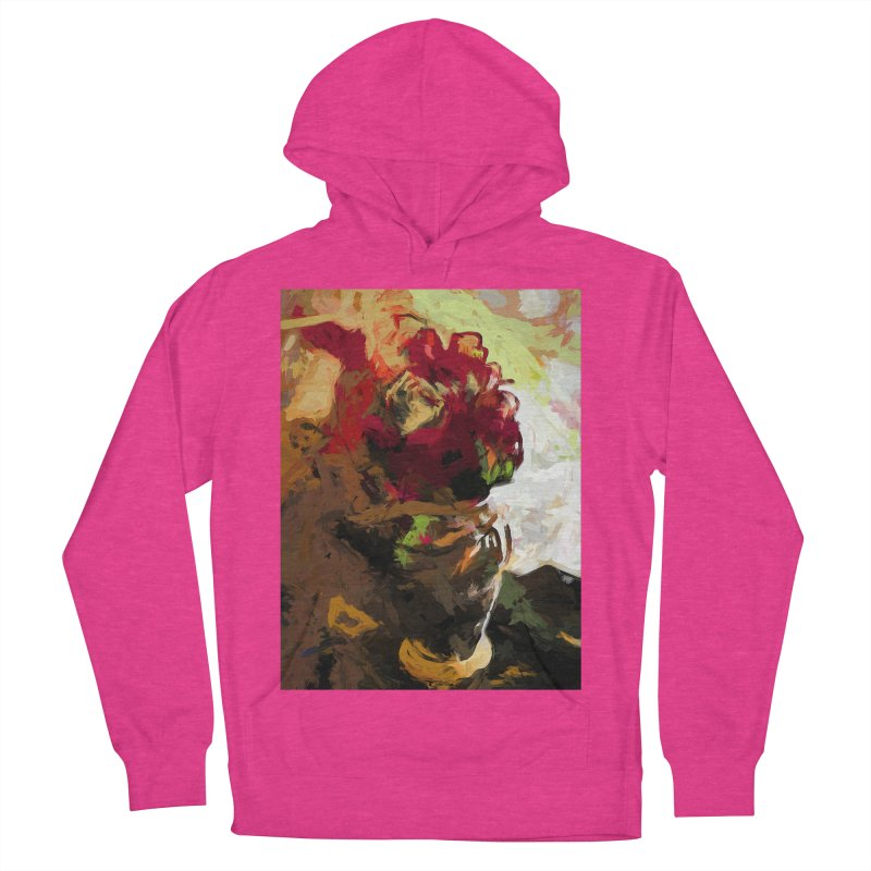 Rose Cathartica Graffiti Vase Flower Maelstrom Women's French Terry Pullover Hoody by jackievano's Artist Shop