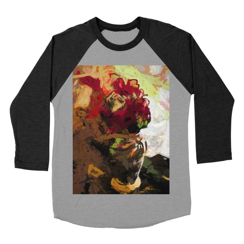 Rose Cathartica Graffiti Vase Flower Maelstrom Women's Baseball Triblend Longsleeve T-Shirt by jackievano's Artist Shop
