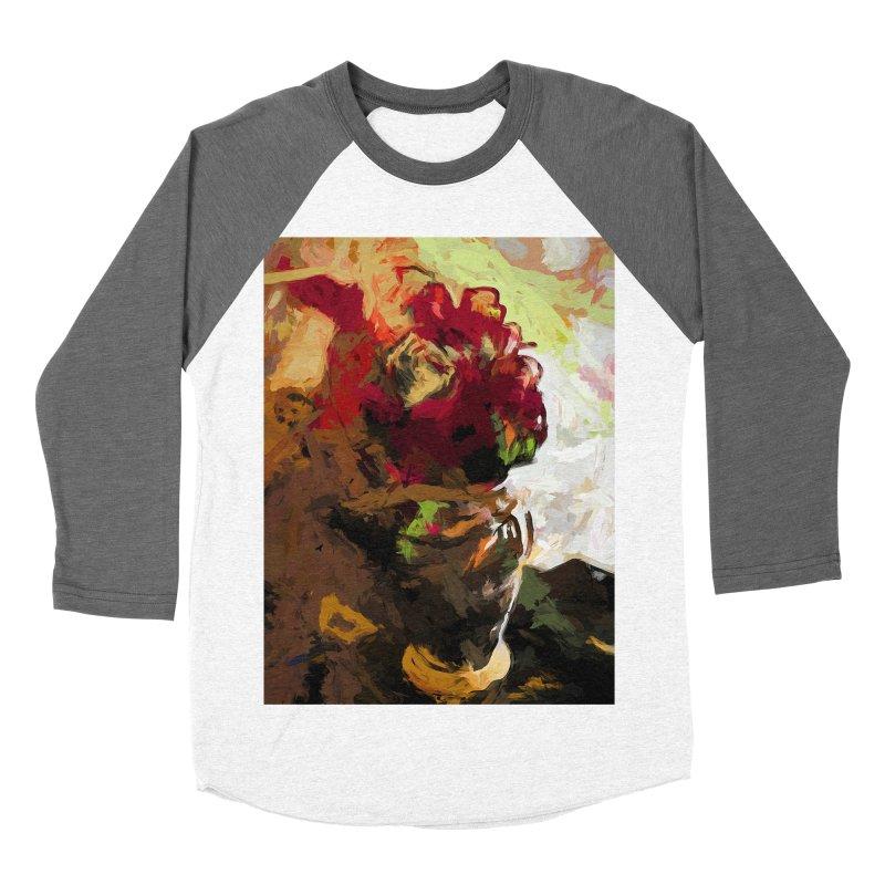 Rose Cathartica Graffiti Vase Flower Maelstrom Men's Baseball Triblend Longsleeve T-Shirt by jackievano's Artist Shop