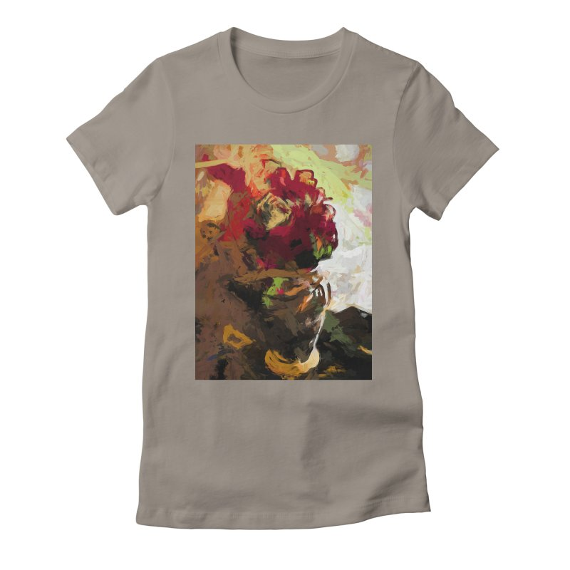 Rose Cathartica Graffiti Vase Flower Maelstrom Women's Fitted T-Shirt by jackievano's Artist Shop
