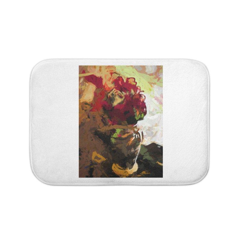 Rose Cathartica Graffiti Vase Flower Maelstrom Home Bath Mat by jackievano's Artist Shop