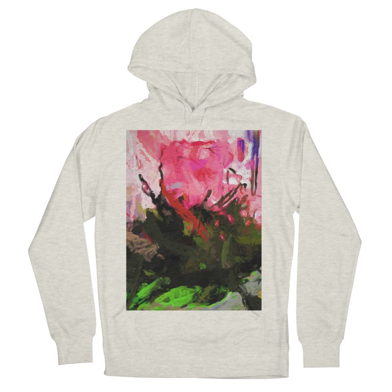 Rose Romantica Pink Flower Maelstrom Women's French Terry Pullover Hoody by jackievano's Artist Shop