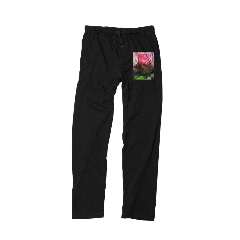 Rose Romantica Pink Flower Maelstrom Women's Lounge Pants by jackievano's Artist Shop