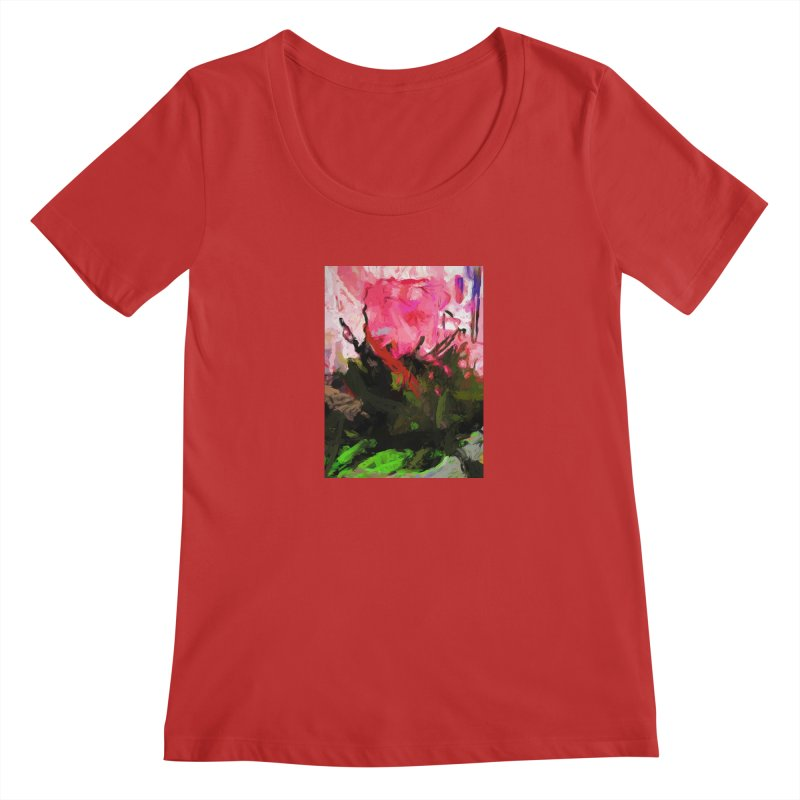 Rose Romantica Pink Flower Maelstrom Women's Regular Scoop Neck by jackievano's Artist Shop