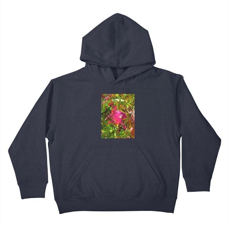 Rosebud Rhapsody Green Hot Pink Dab Kids Pullover Hoody by jackievano's Artist Shop