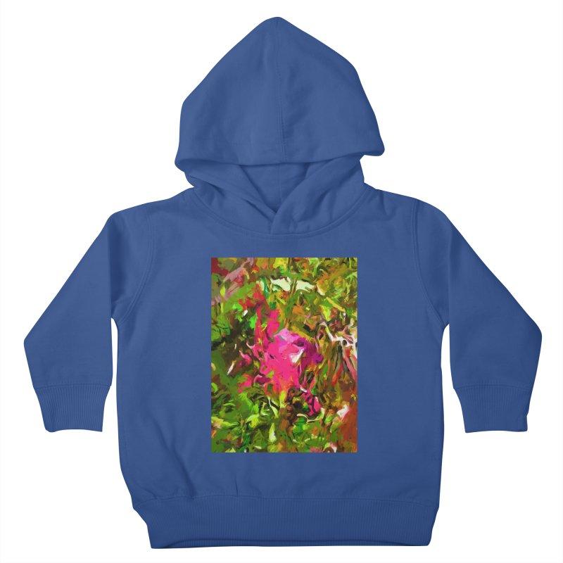 Rosebud Rhapsody Green Hot Pink Dab Kids Toddler Pullover Hoody by jackievano's Artist Shop