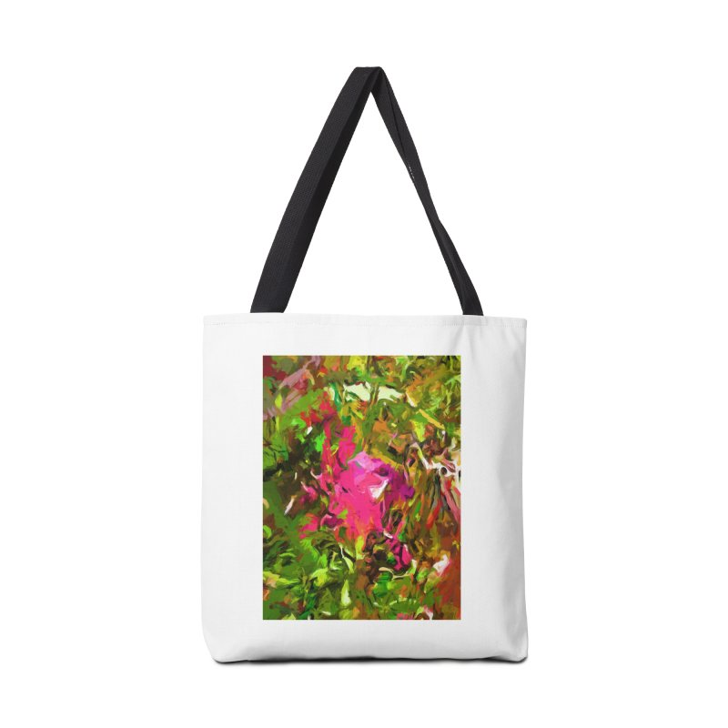 Rosebud Rhapsody Green Hot Pink Dab Accessories Bag by jackievano's Artist Shop