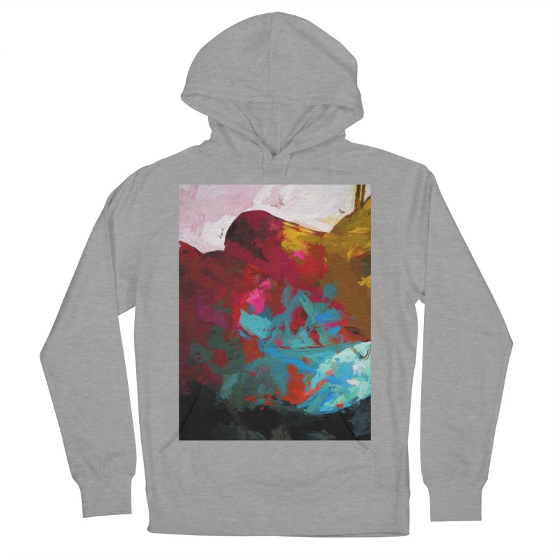 September Splash Apple Banana Turquoise Brown Men's French Terry Pullover Hoody by jackievano's Artist Shop
