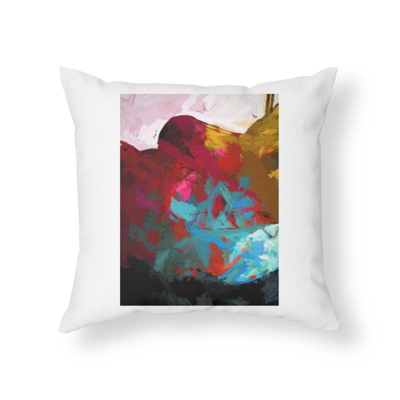 September Splash Apple Banana Turquoise Brown Home Throw Pillow by jackievano's Artist Shop