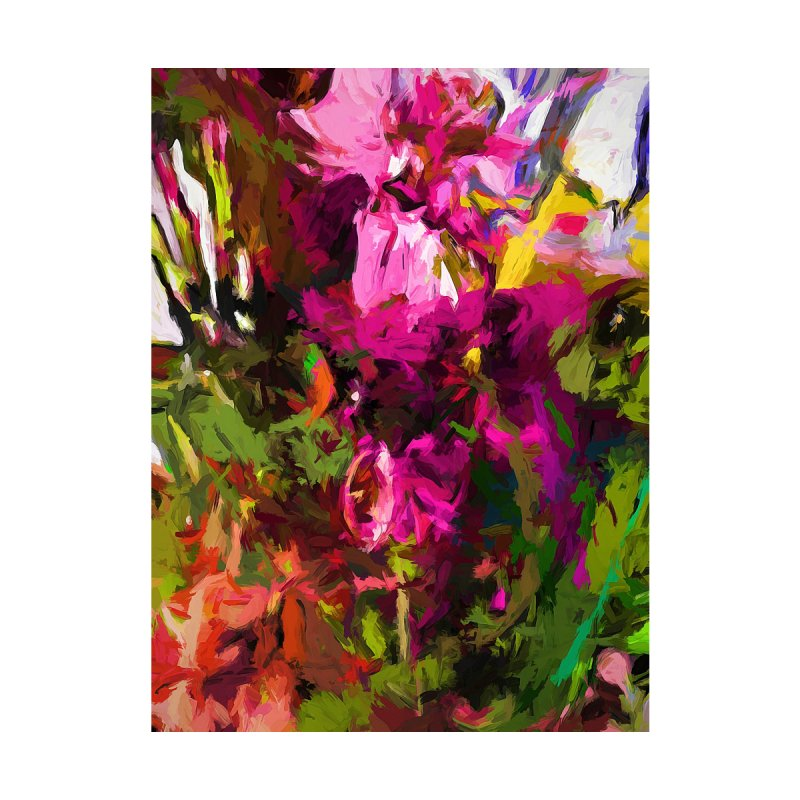 Lolly Pink Flower Rhapsody Magenta Dab by jackievano's Artist Shop