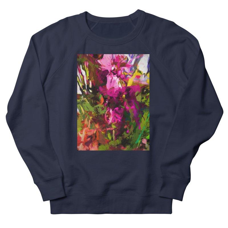 Lolly Pink Flower Rhapsody Magenta Dab Men's French Terry Sweatshirt by jackievano's Artist Shop