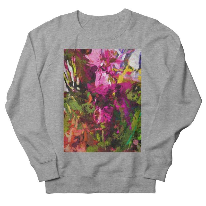 Lolly Pink Flower Rhapsody Magenta Dab Women's French Terry Sweatshirt by jackievano's Artist Shop