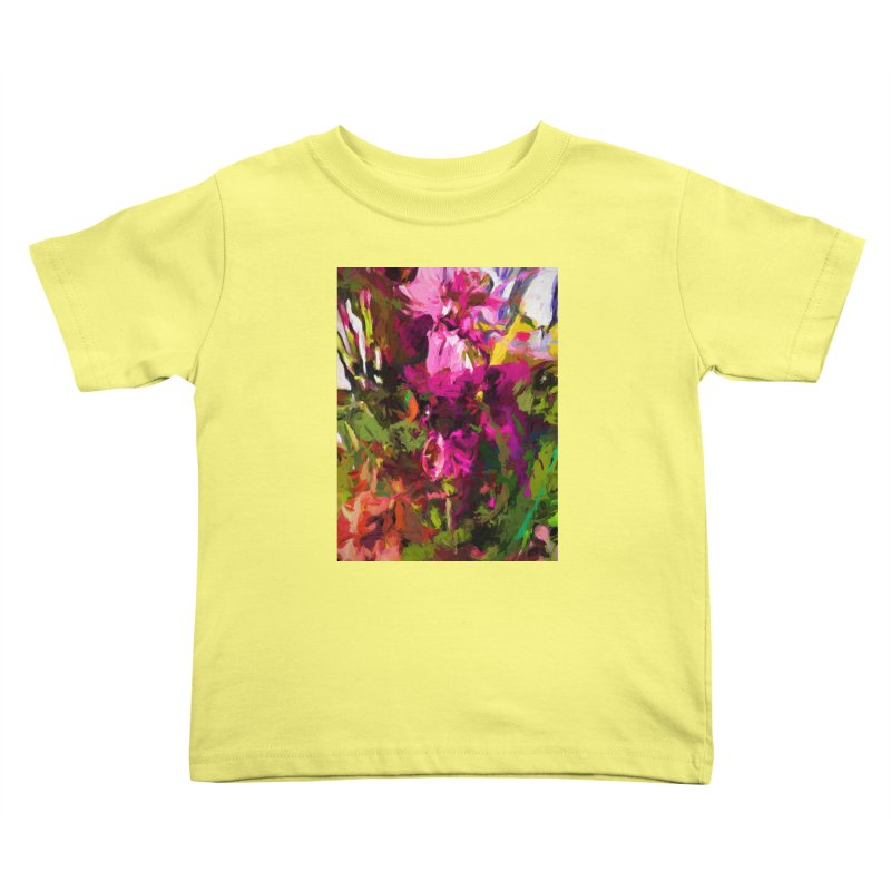 Lolly Pink Flower Rhapsody Magenta Dab Kids Toddler T-Shirt by jackievano's Artist Shop