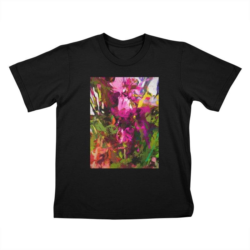 Lolly Pink Flower Rhapsody Magenta Dab Kids T-Shirt by jackievano's Artist Shop