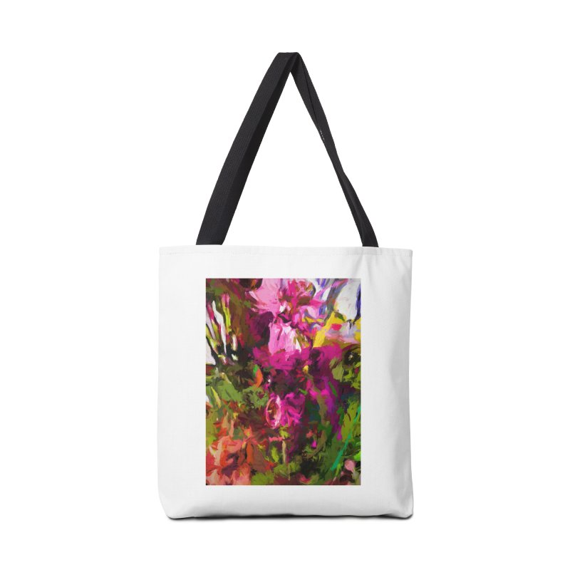 Lolly Pink Flower Rhapsody Magenta Dab Accessories Bag by jackievano's Artist Shop
