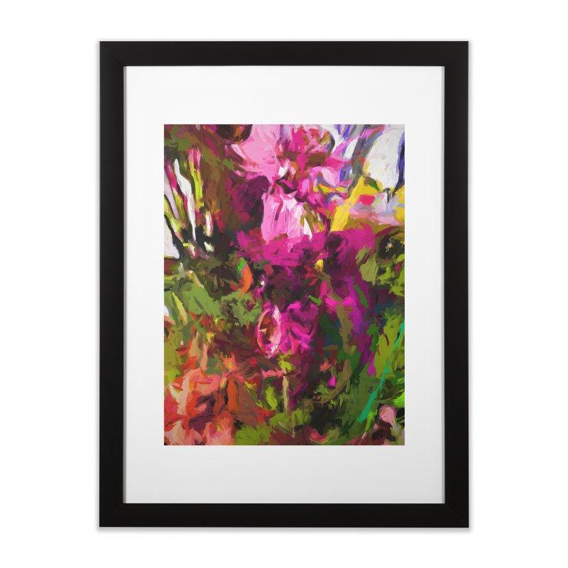 Lolly Pink Flower Rhapsody Magenta Dab Home Framed Fine Art Print by jackievano's Artist Shop