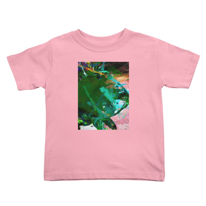 Green Leaf Killer Whale Turquoise Blue Kids Toddler T-Shirt by jackievano's Artist Shop