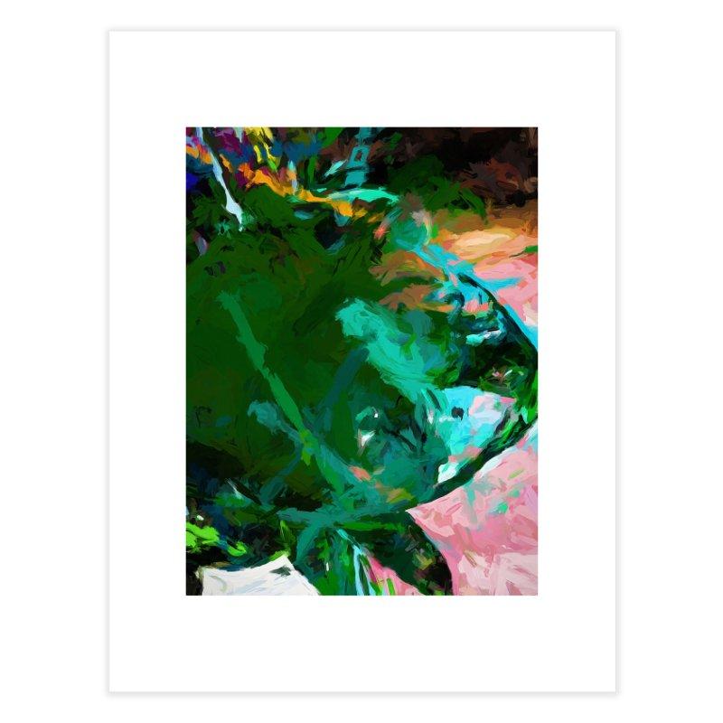 Green Leaf Killer Whale Turquoise Blue Home Fine Art Print by jackievano's Artist Shop