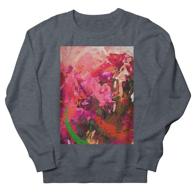 Flower Flames Soul Pink Orange Green Men's French Terry Sweatshirt by jackievano's Artist Shop