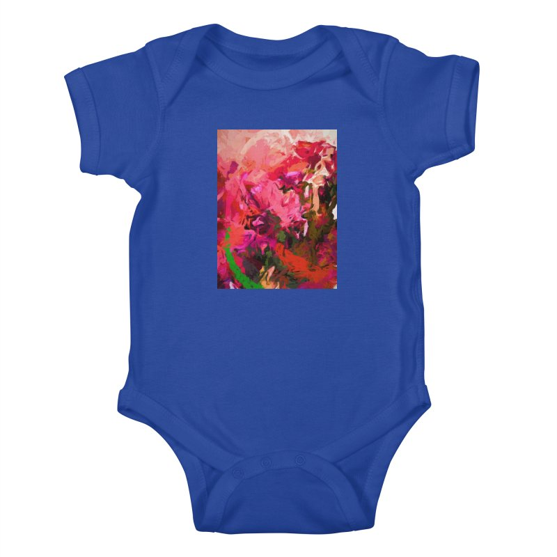 Flower Flames Soul Pink Orange Green Kids Baby Bodysuit by jackievano's Artist Shop