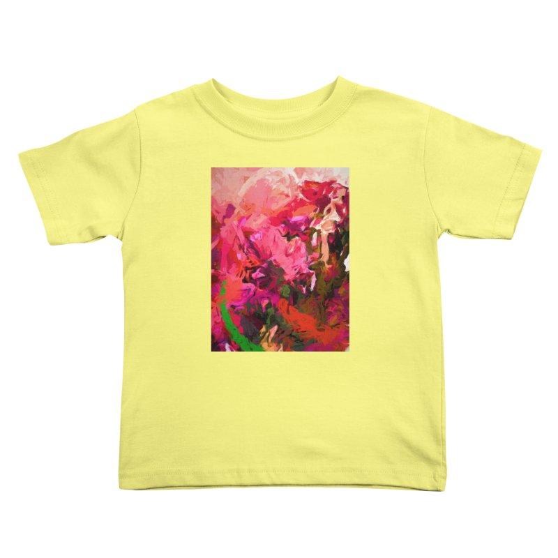 Flower Flames Soul Pink Orange Green Kids Toddler T-Shirt by jackievano's Artist Shop