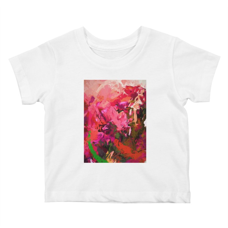 Flower Flames Soul Pink Orange Green Kids Baby T-Shirt by jackievano's Artist Shop