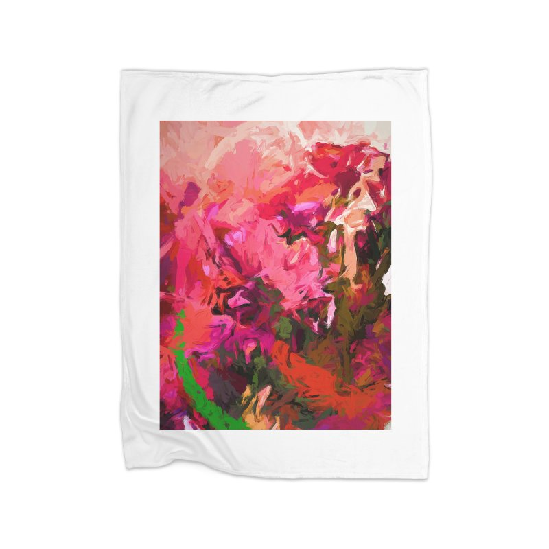 Flower Flames Soul Pink Orange Green Home Blanket by jackievano's Artist Shop