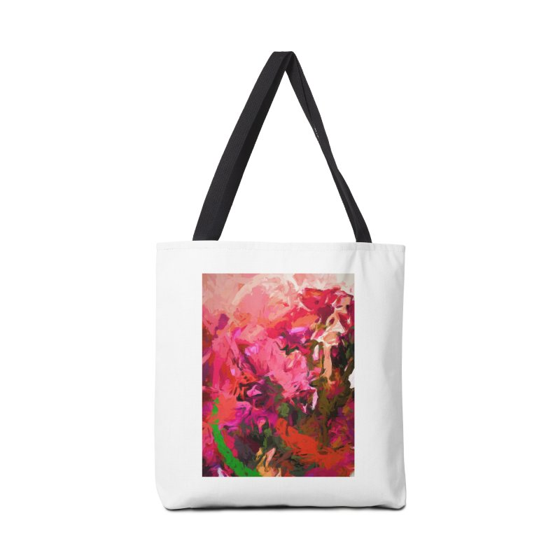Flower Flames Soul Pink Orange Green Accessories Bag by jackievano's Artist Shop