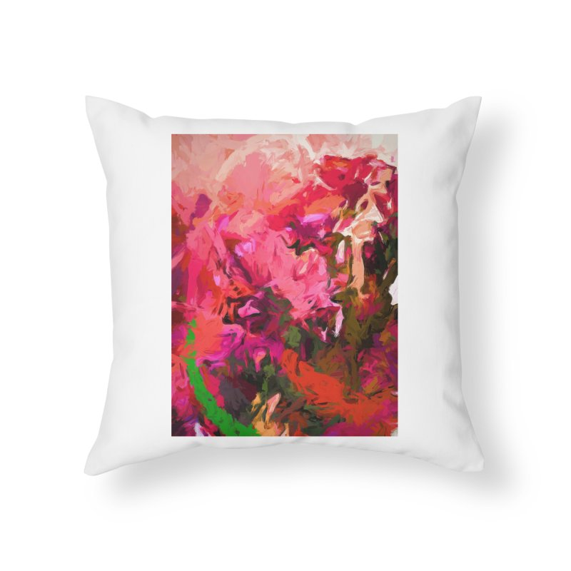 Flower Flames Soul Pink Orange Green Home Throw Pillow by jackievano's Artist Shop