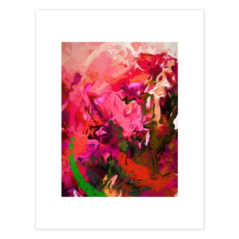 Flower Flames Soul Pink Orange Green Home Fine Art Print by jackievano's Artist Shop