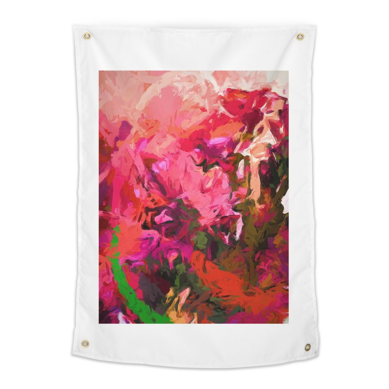 Flower Flames Soul Pink Orange Green Home Tapestry by jackievano's Artist Shop