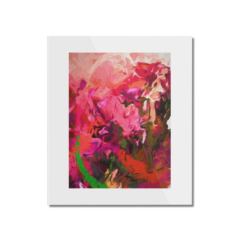 Flower Flames Soul Pink Orange Green Home Mounted Acrylic Print by jackievano's Artist Shop