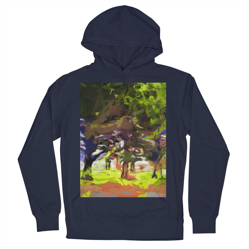 Tree Avenue Orange Green Indigo Blue Men's French Terry Pullover Hoody by jackievano's Artist Shop