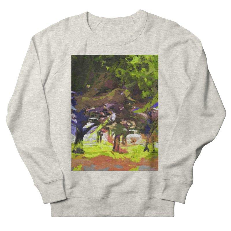 Tree Avenue Orange Green Indigo Blue Men's French Terry Sweatshirt by jackievano's Artist Shop